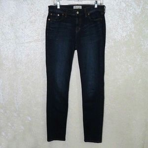 Madewell Alley Straight Leg Jeans High Rise Dark